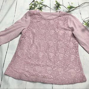 Women's Rose Lace Shirt- 3/4 lenght sleeves - MP